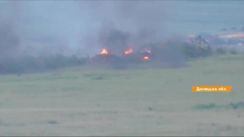 Знищення опорника бойовиків Троїцьке [21.05.2018] -