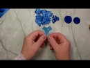 Цветы из лент, канзаши МК - DIY satin ribbon flower, kanzashi