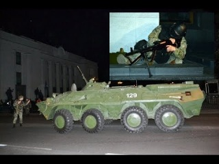 В Киеве спецназ с БТРами освобождал Раду и Кабмин от захватчиков