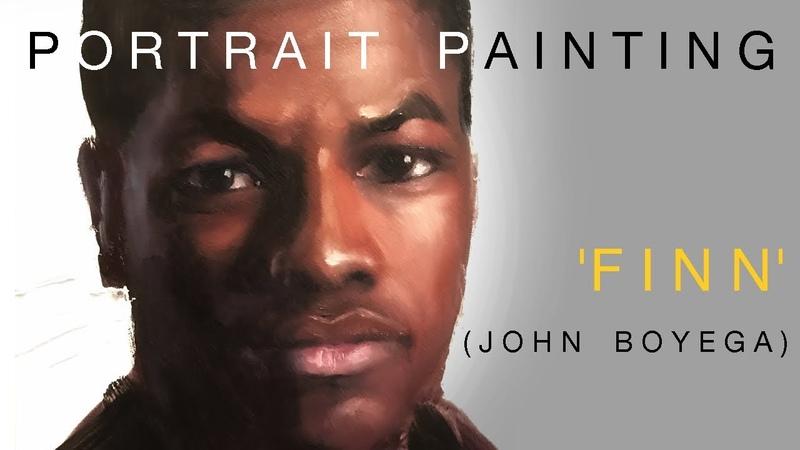 Portrait Painting: 'Finn' (John Boyega)   Oil Painting Time Lapse
