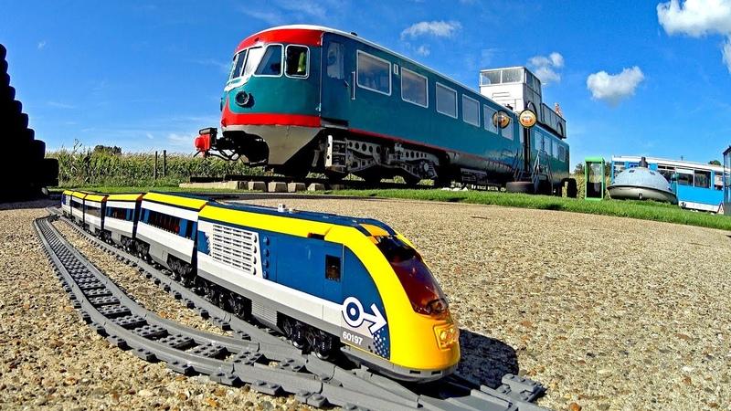 Sleep in a Train Lego Train TRIXBRIX Layout at Controversy Inn