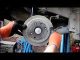 Два способа проверить состояние задних тормозных колодок Chevrolet Spark 1,0 2012 года Шевроле Спарк