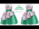 DIY Designer box pleated Layer BABY FROCK cutting and Stitching full tutorial