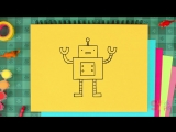 How To Draw A Robot - Super Simple Draw Ep.4 - Drawing for kids