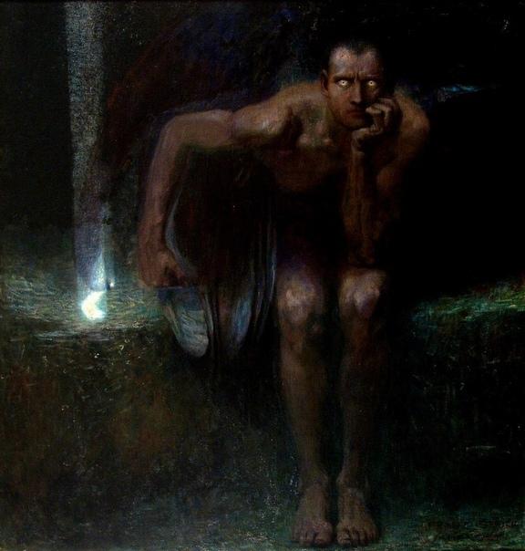 Картина «Люцифер», 1890 год. Автор: Франц фон Штук