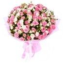 25 веток кремовой и розовой кустовой Розы.  1 товар in your shopping cart.