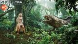 King Kong 2005 - V-Rex vs Foetodon Scene 4K
