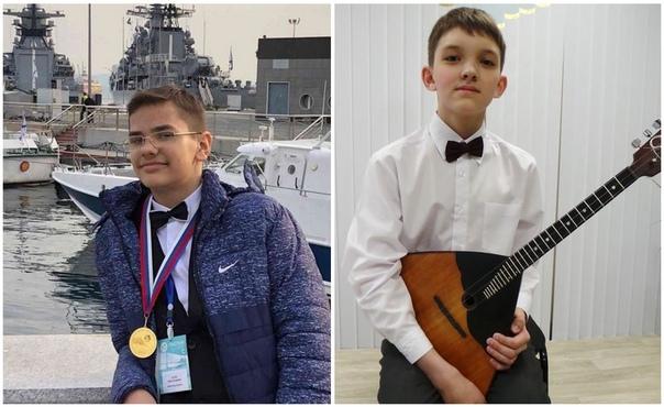 Балалаечники Иван Попов и Илья Шадрин