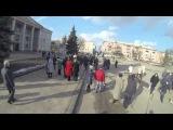#Коростишів - 21.02.2014 - підготовка демонтажу пам'ятника Леніну
