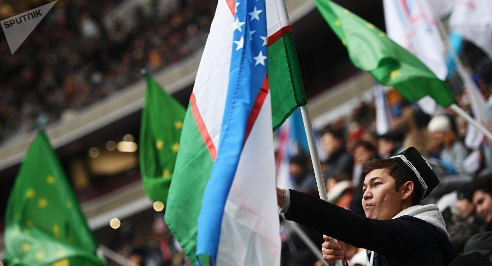 Открытка с фото узбекистана, надписью без