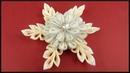 DIY Kanzashi Ribbon Snowflake Christmas Decor Stoff Weihnachten Schneeflocke