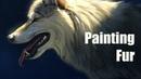 Painting Fur - Photoshop - Wolf Portrait