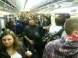 Фанаты Спартака избивают болельщиков Анжи в метро