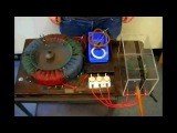 Teslas 3 Phase Rotating Magnetic Field Generator