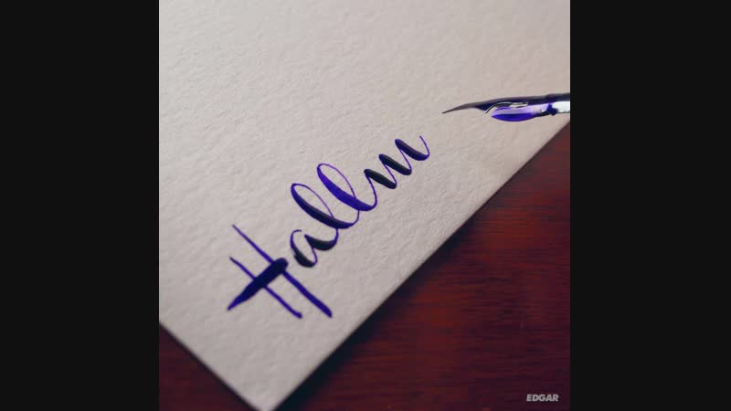 I tried to recreate the Hallmark logo with my calligraphy supplies
