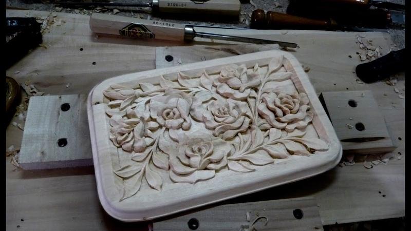 Резная шкатулка с розами .Box with roses.