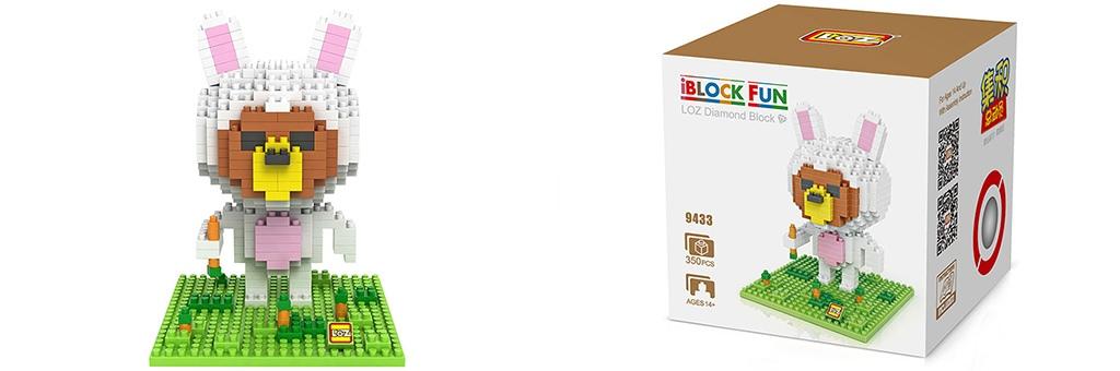 """Конструктор LOZ Diamond Block iBlock Fun """"Тед в костюме зайца"""" 9433"""