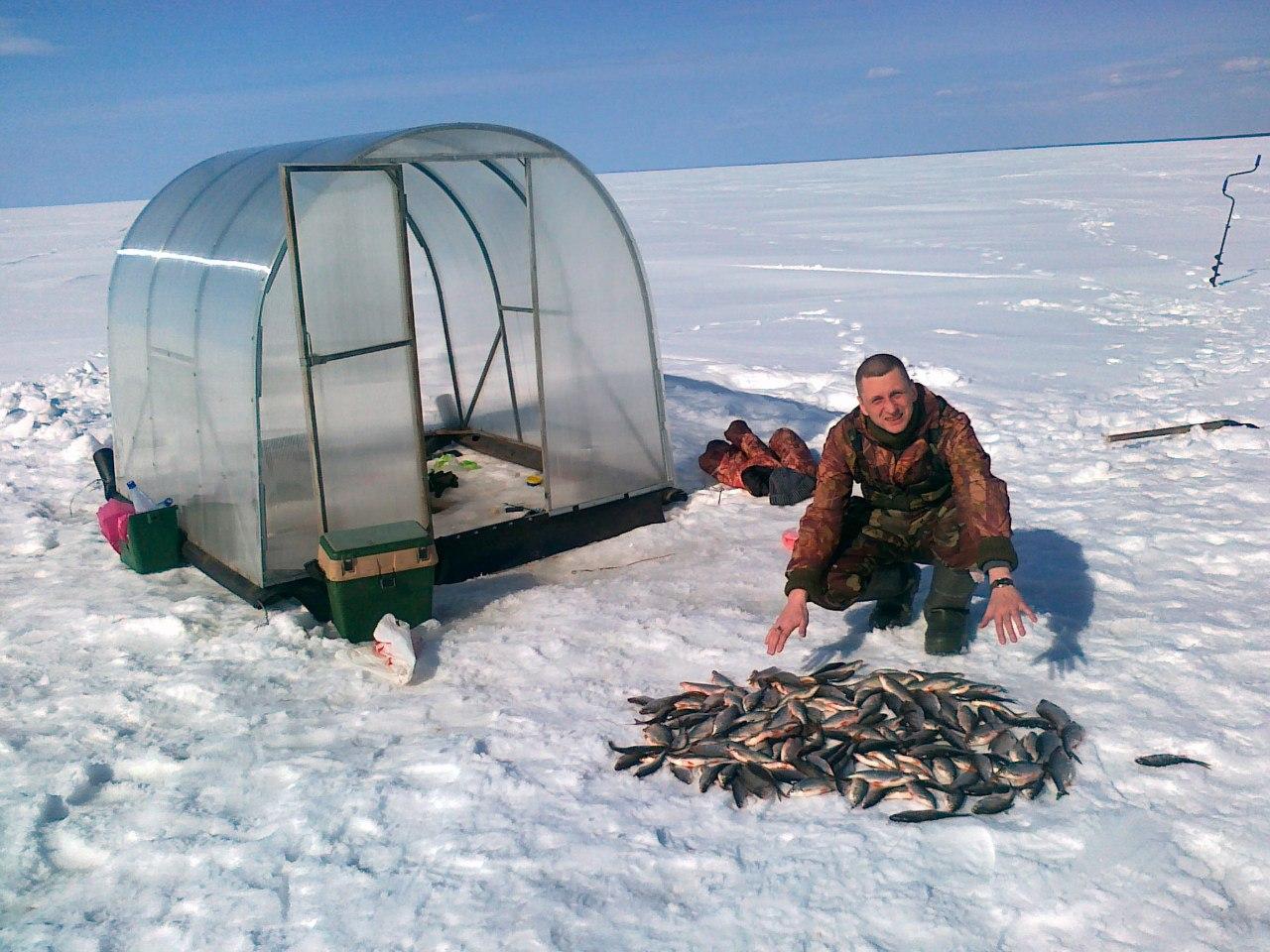 Изготовление зимней палатки для рыбалки своими руками