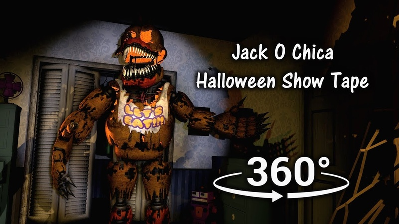 360°  Jack O Chica Halloween Tape - Five Nights at Freddy's 4 [SFM] (VR Compatible)