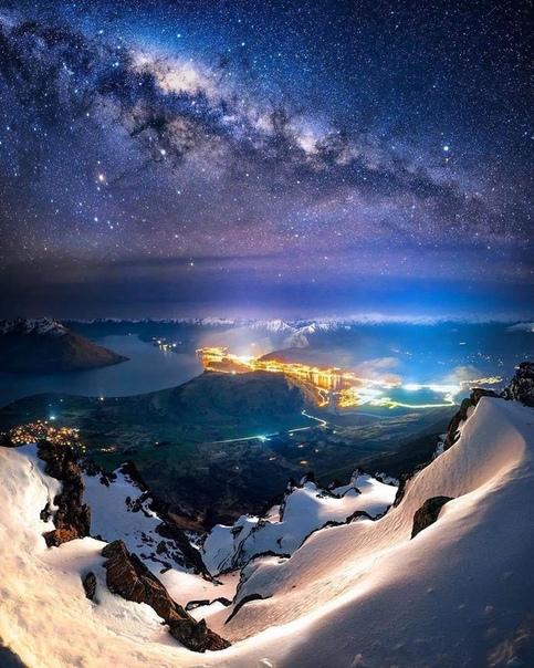 Млечный путь над Квинстауном, Новая Зеландия