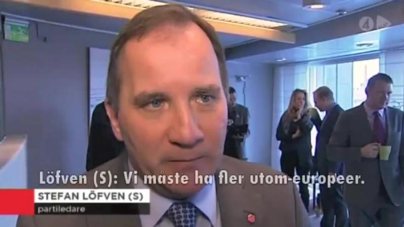 - 2013 - Mona SahlinDet är de vita der er problemet Löfven Vi måste ha fler utom-europeer