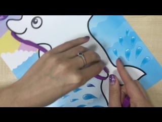 Раскрашиваем пластилином в разных техниках Дельфинчика