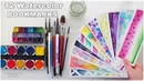 📚 DIY 12 Easy Watercolor Bookmarks Ideas for Beginners ♡ Maremi's Small Art ♡