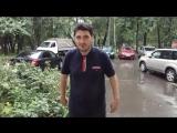 Эльдар Богунов трешак, моется под дождем