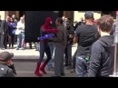 NEW - The Amazing Spiderman 2 Filming In NYC Starring Andrew Garfield & Jamie Foxx