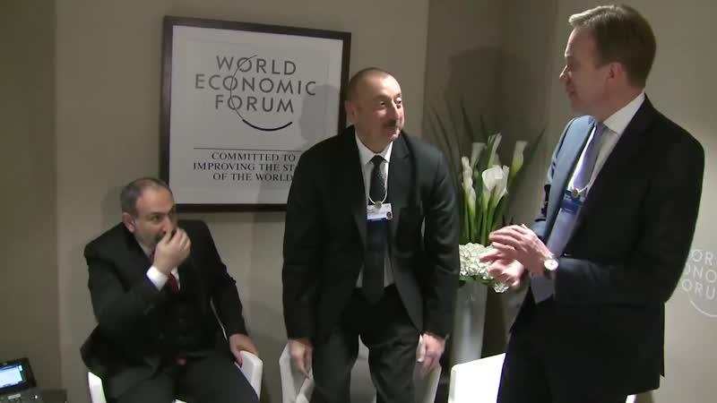 Դավոսում վարչապետ Նիկոլ Փաշինյանը ոչ պաշտոնական հանդիպում է ունեցել Ադրբեջանի նախագահ Իլհամ Ալիևի հետ Հանդիպման ընթացքում զրու