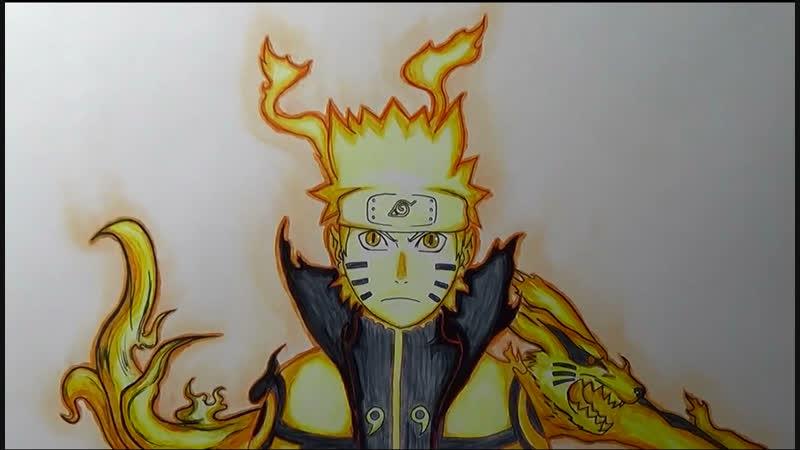 Naruto Shippuuden OST Drawing Naruto Bijuu mode Theneme