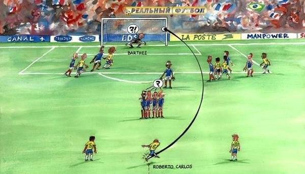 Сборная Бразилии по футболу, Роберто Карлос, Фабьен Бартез, Сборная Франции по футболу