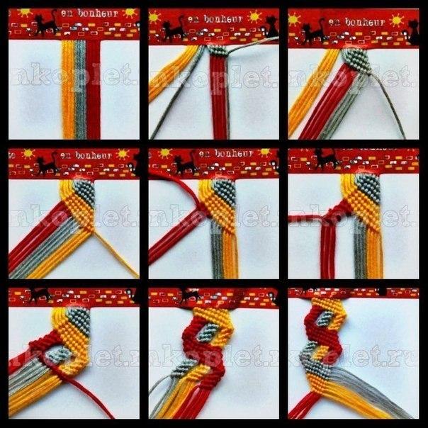 """Фото-урок плетения фенечки """""""