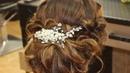 Низкий пучок из локонов на основе валика Видеоурок Loose wedding prom updo Tutorial