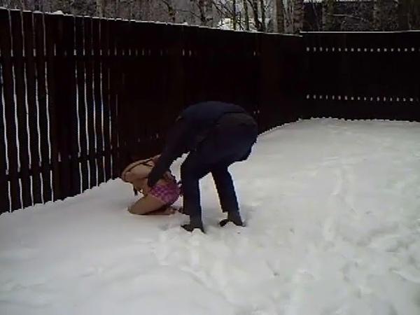 Shibari in the Russian winter