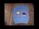 Вязание детской жилетки безрукавки спицами часть 1