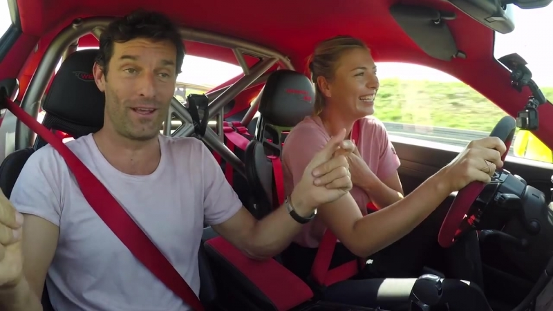 Maria Sharapova Mark Webber in a 911 GT2 RS - Fast laps on the Porsche test tr