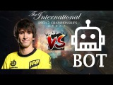Na'Vi Dendi  Человек vs BOT  TI7 1st official game in the world