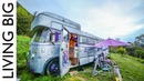 A Bedford House Bus In An Off-The-Grid Upcycled Homestead Kingdom || Living Big In A Tiny House