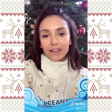 """Nina Dobrev on Instagram: """"Wanna feel good and support a good cause in the most chill AF way? I have partnered with @tiktok to help me give to @oce..."""