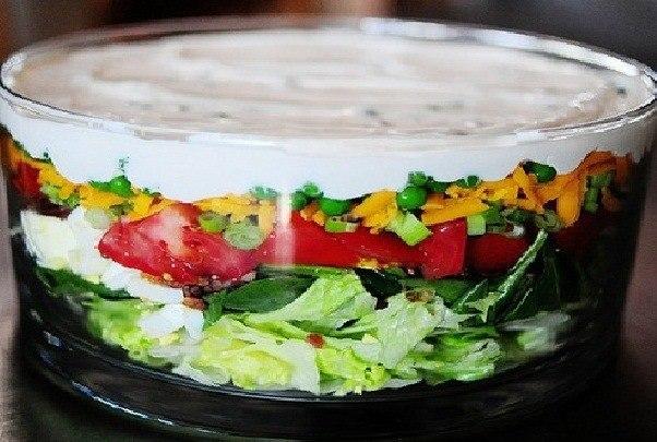 Слоеный салат.  Вам понадобится: