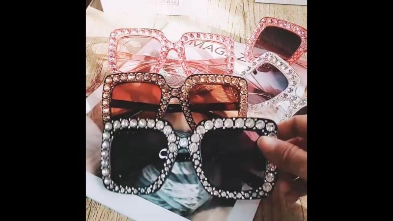 Большие квадратные очки
