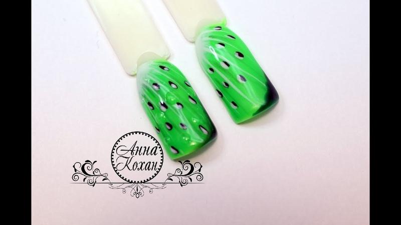 🥝КИВИ на ноготках🥝Летний дизайн ногтей с киви🥝Роспись гель лаками Patrisa Nail🥝Фрукты на ногтях