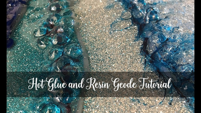 Quick and Easy Hot Glue and Resin Geode
