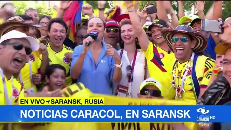 Я в прямом эфире Saransk, la casa de la selección Colombia en el Mundial de Rusia 2018