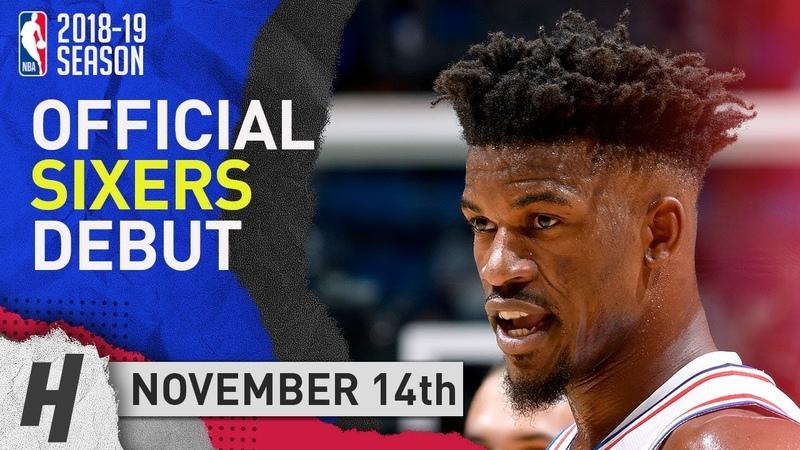 Jimmy Butler 76ers DEBUT Full Highlights vs Magic 2018.11.14 - 14 Pts, 2 Ast, 4 Rebounds!