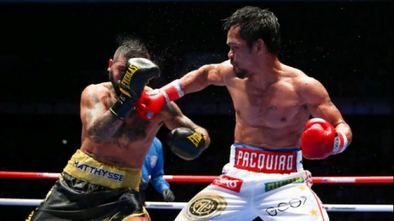 Manny Pacquiao - Lucas Matthysse Highlights In Slow Motion