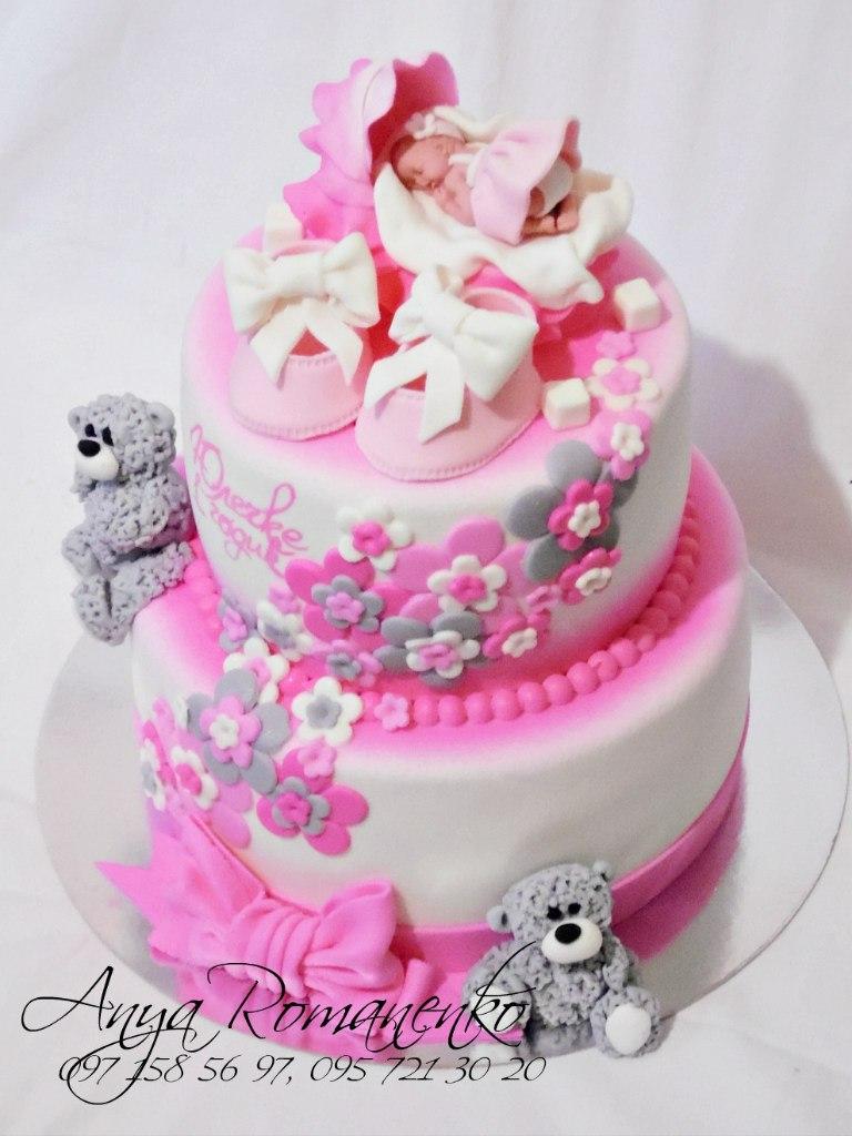 Детский торт из мастики на 1 год девочке фото