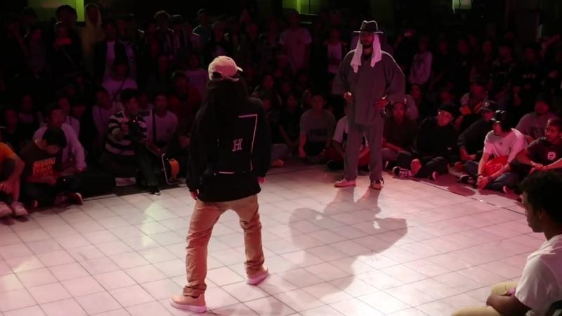Dimension vs Yoshio ① Hiphop-Forever Japan 2017