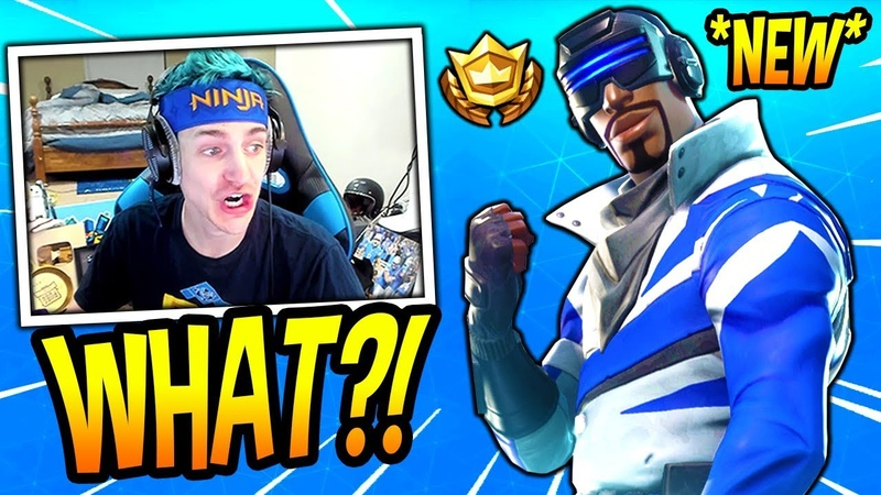 NINJA REACTS TO *NEW* BLUE STRIKER SKIN! *EPIC* Fortnite SAVAGE FUNNY Moments